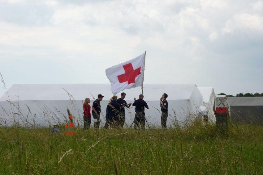 Ausgelagerte Standortübung auf einem Truppenübungsplatz: Ein Mischung aus Camping-Wochenende und Ausbildung.