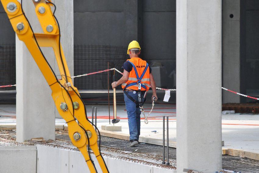 Baufortschritt des Kauflandgebäudes am Glückaufplatz in Wanne.