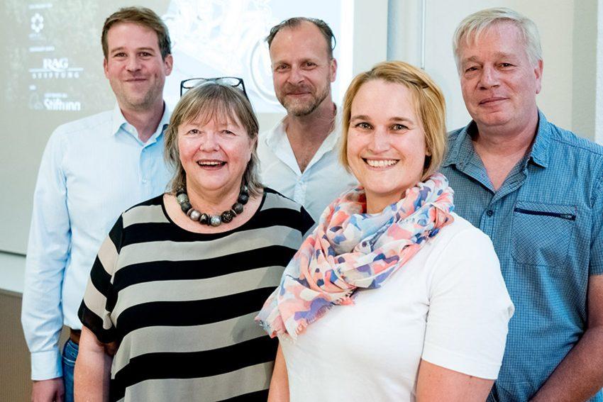 v.l. Dennis Neumann, Susanne Schübel, Benedikt Stumpf, Judith Pöstgens, Rainer Bodenschatz.