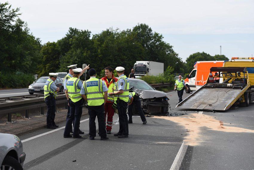 Unfall auf der A43 am Montag ()11.6.2018.