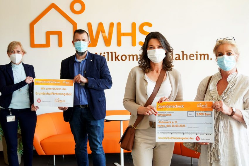 v.l. Simone Hitzler (WHS-Vorstand), Marco Volkar (WHS-Prokurist), Cordula Klinger-Bischof und Safi Thoma (Ruhrwerk-Vorstand).
