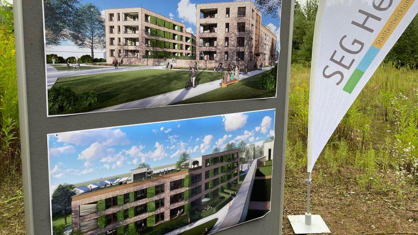 Vorstellung der Pläne der Wohnungsgenossenschaft Herne-Süd (WHS) und der Stadtentwicklungsgesellschaft (SEG) Herne am ehemaligen Sportplatz Nordstraße für bezahlbaren Wohnraum, Name