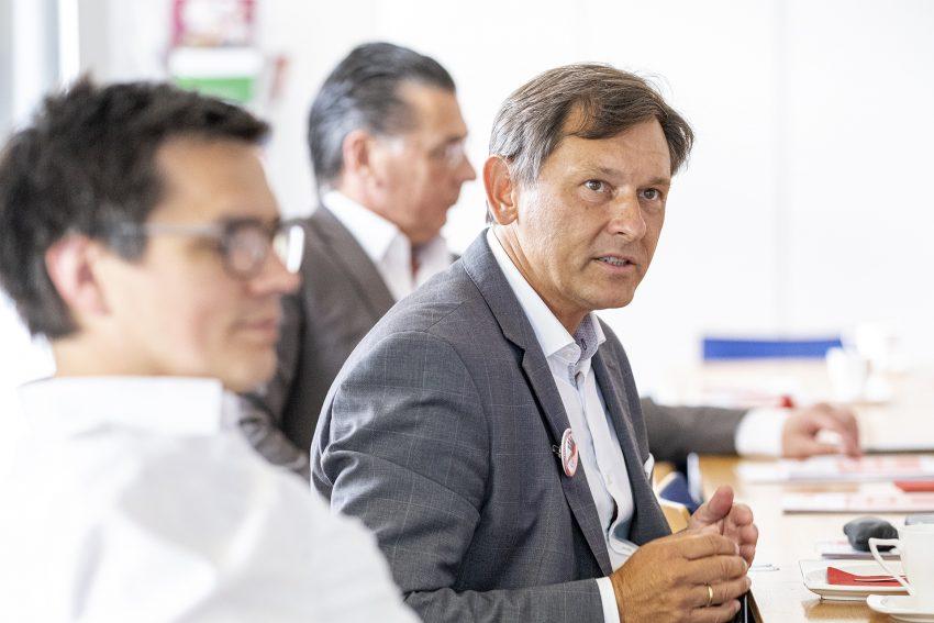 Wahlkampfauftakt der SPD in Herne (NW) mit Vorstellung der Kampagne, am Montag (03.08.2020). Im Bild: Oberbürgermeister Dr. Frank Dudda, der am 13.09. wieder ins Rennen geht.