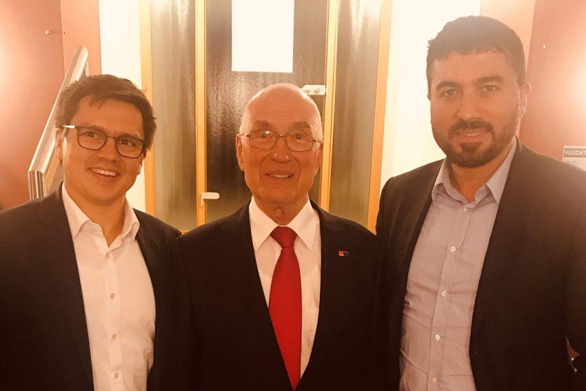 v.l. Alexander Vogt, Heinz Drenseck, Serdar Yüksel.