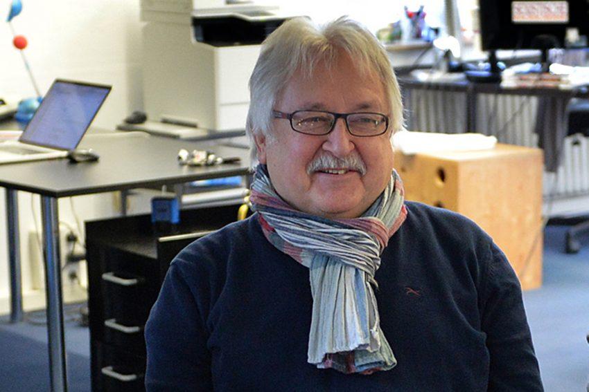 Bezirksbürgermeister Ulrich Koch in der halloherne Redaktion. (Archiv)