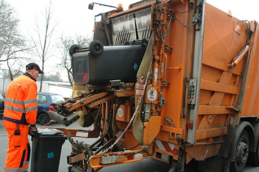 Müllabfuhr in Herne.