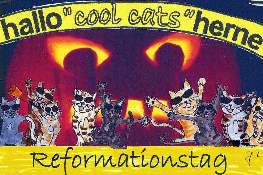 cool cats zu Halloween und zum Reformationstag.