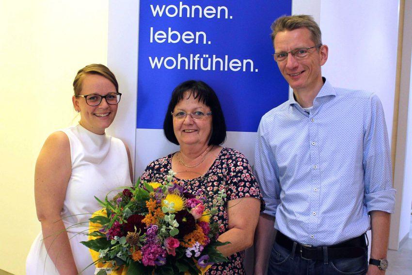 v.l. Sonja Pauli (Vorstandsvorsitzende), Gabi Gehring, Christoph Linkemann (Vorstandsmitglied).