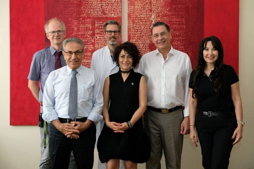 v.l. Dr. Lars Hahn, Dr. Senay Yalcin, Dr. Jens Verbeek, Dr. Sibel Baykut, Udo Sobieski und Nurten Özcelik.