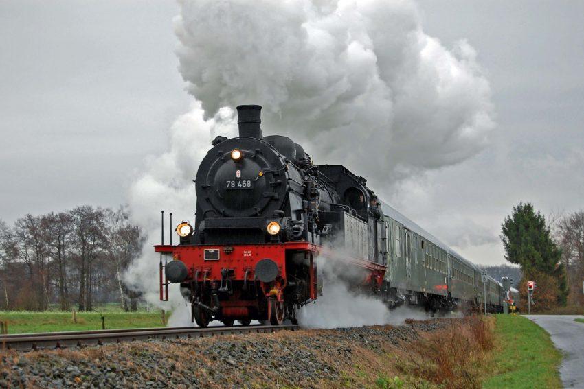 Mit der Dampflok 78 468 zum Weihnachtsmarkt nach Braunschweig.