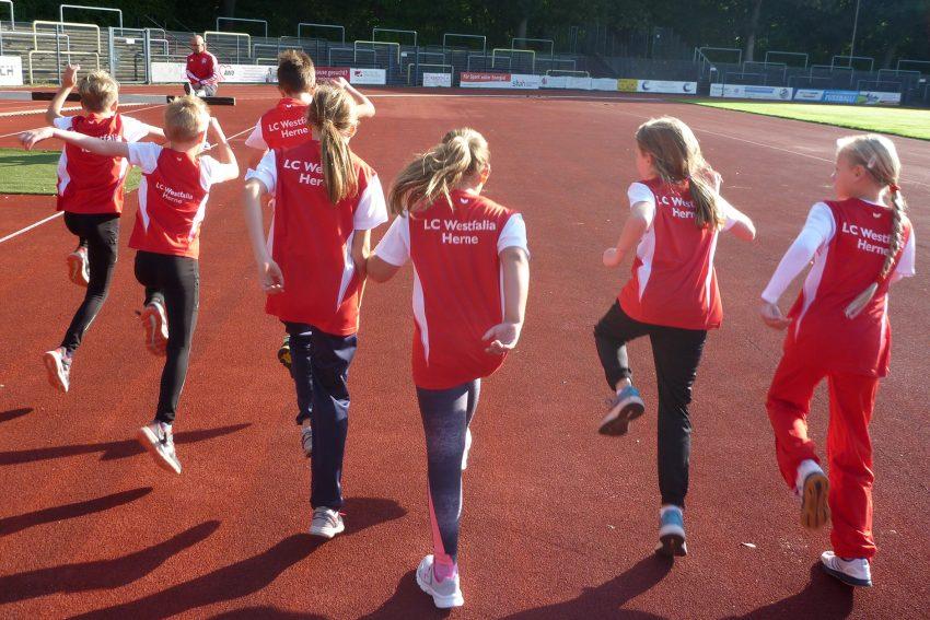 Die jungen Sportler des LCW