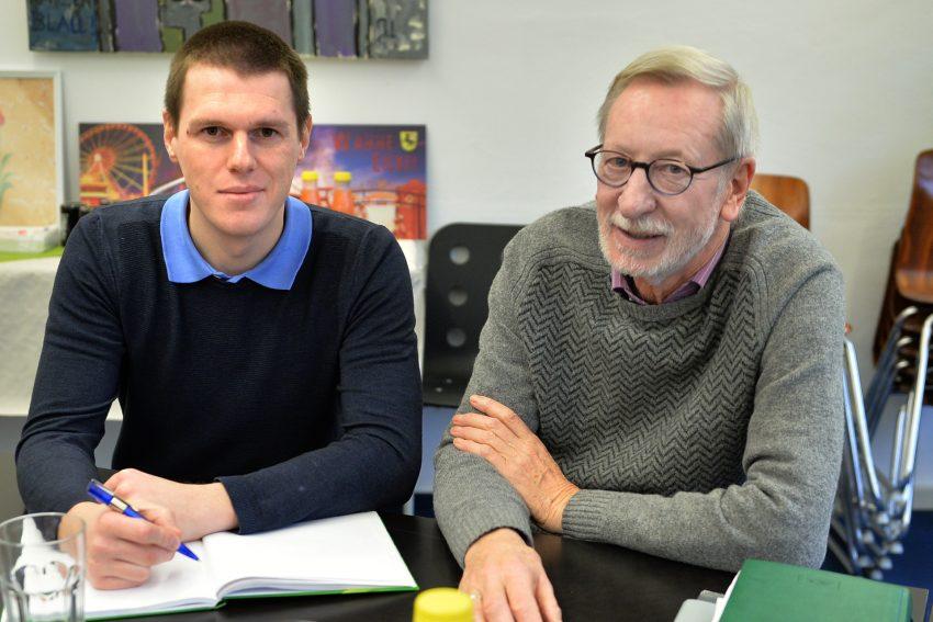 Dr. Steven Engler beim Redations-Besuch mit Herbert Terlau.