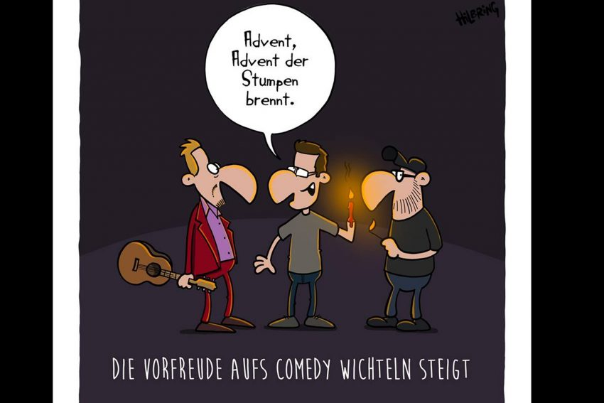 Cartoon zum Comedywichteln.
