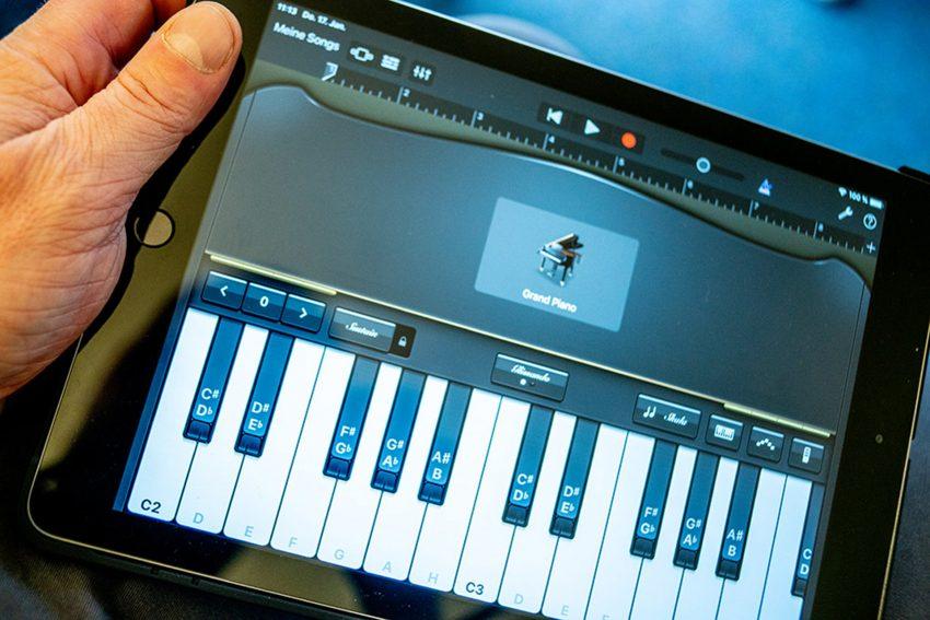 GarageBand auf dem iPad.