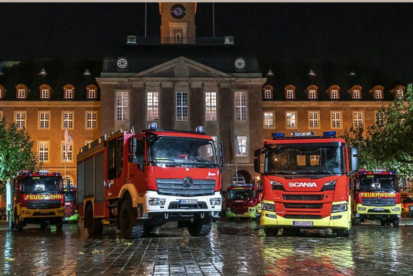 Übergabe der neuen Einsatzfahrzeuge der Herner Feuerwehr.