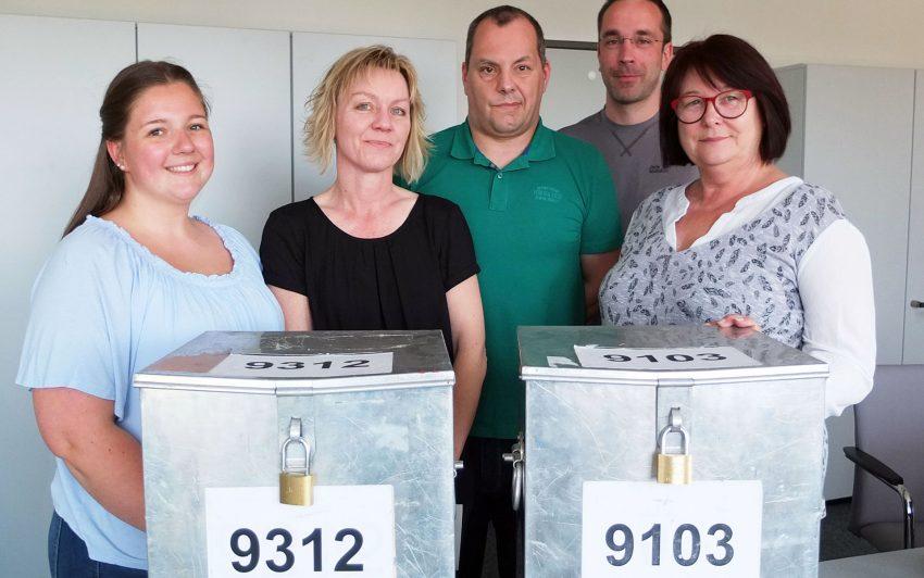 v.l. Nina Müller, Bianca Hudziak, Jörg Flieger, Sebastian Reißig, Monika Hackerts.