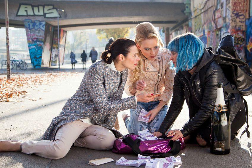Drei starke Frauen: Margarita Breitkreiz, Daria Nosik und Sabrina Reiter.