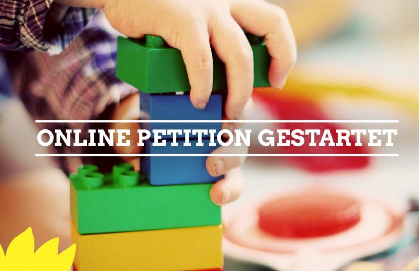 Die Grünen haben eine Online-Petition gestartet, um Eltern zu entlasten