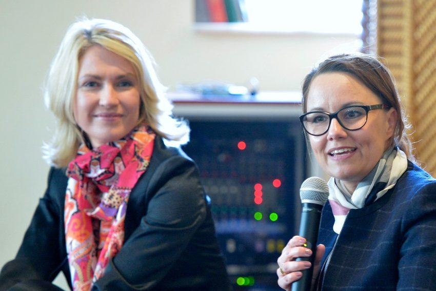 v.l. Manuela Schwesig und Michelle Müntefering.