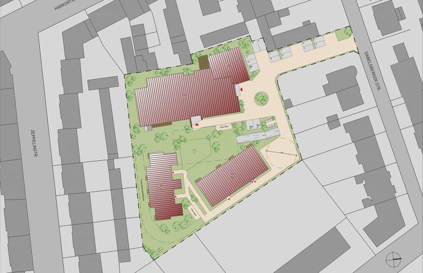 Plan des neuen Wohnprojektes.