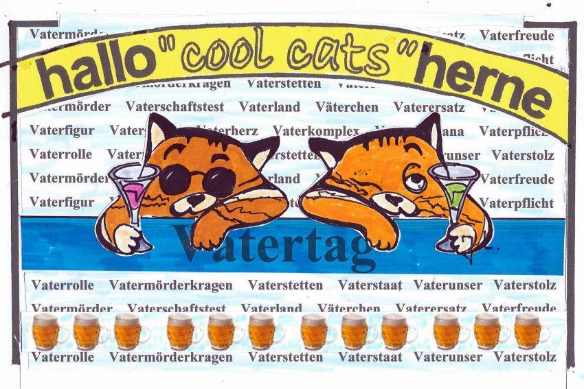 Unsere Cool Cats gratulieren zum Vattertach.