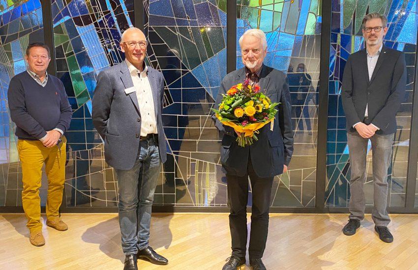 Werner Karnik (Schatzmeister), Pfarrer Frank Obenlüneschloß (Vorsitzender), Prof. Dr. Klaus Hackenberg (Ehrenvorsitzender) und Dr. Jens Verbeek(stellv. Vorsitzender).
