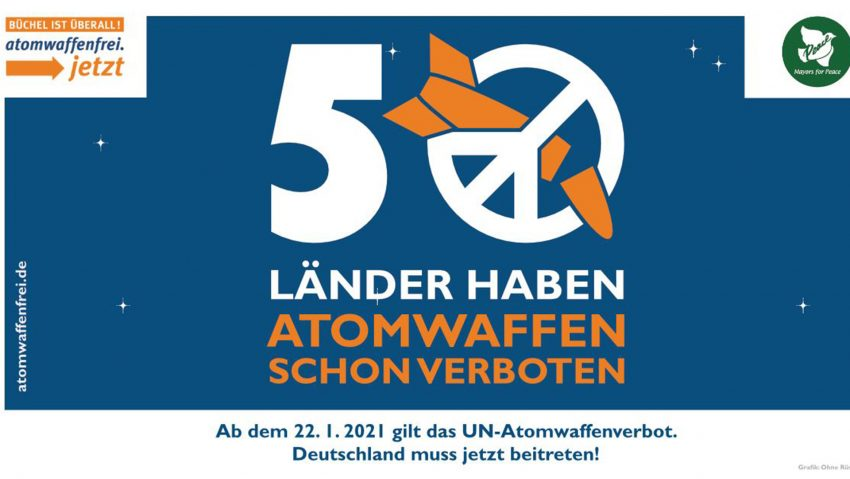 Das Logo der Mayors for Peace Aktion.