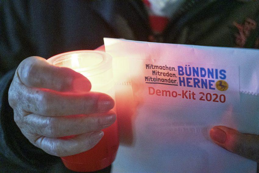 Demo gegen Rechtsextremismus in Herne (NW), am Dienstag (17.12.2019). Foto: Stefan Kuhn