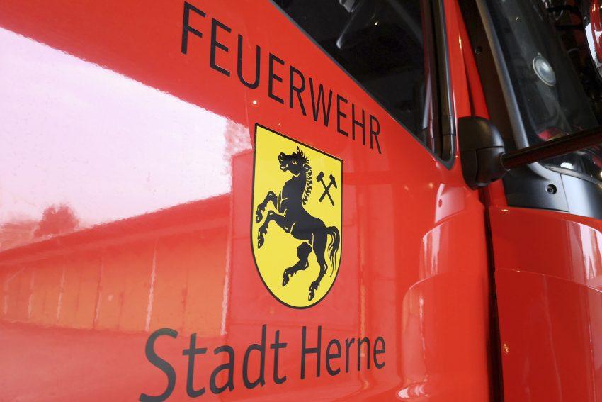 Detailaufnahme eines Löschfahrzeugs der Feuerwehr in Herne (NW), am Dienstag (04.06.2019).