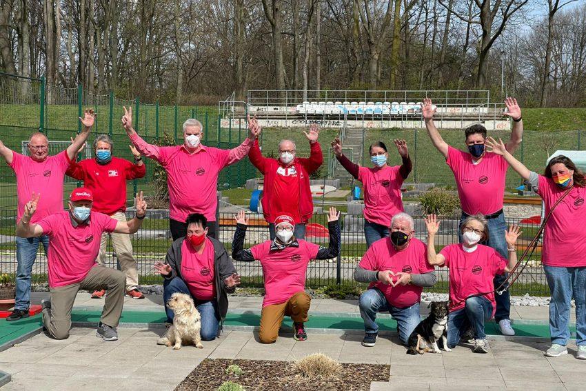 MGC RW Wanne-Eickel beteiligt sich an der Aktion 'Pink gegen Rasissmus'.