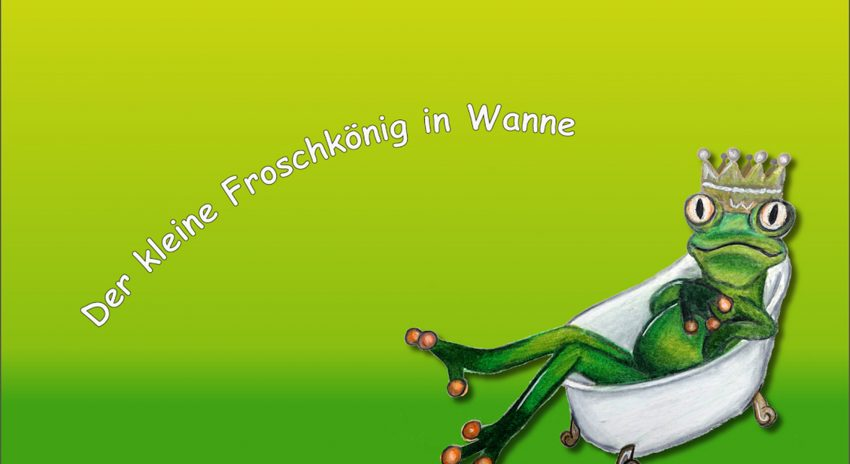 Logo vom Second-Hand Laden 'Der kleine Froschkönig in Wanne'.