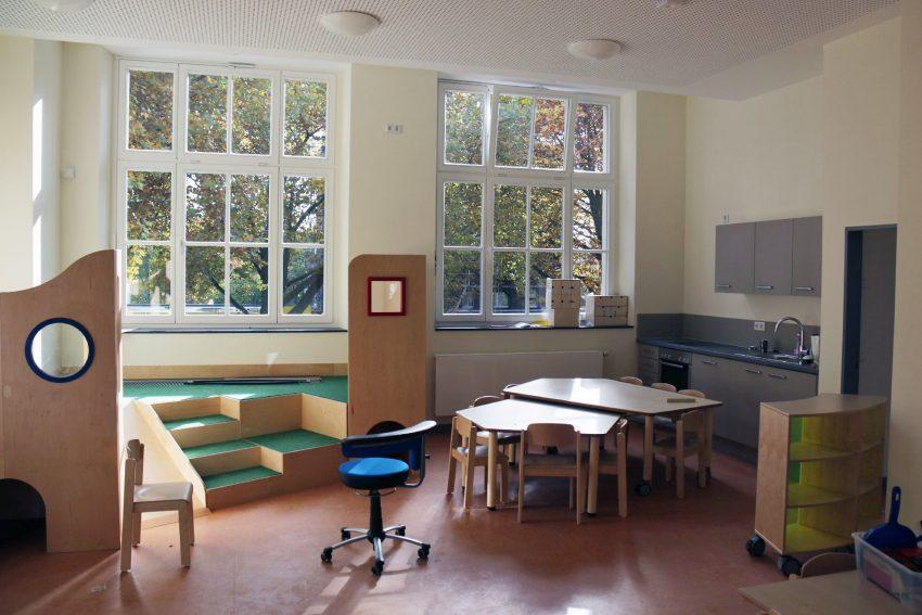 In der Königin-Luisen-Schule.