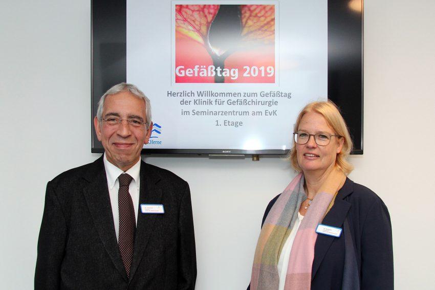 Dr. Anne-Kathrin Dauphin (r.) und Dr. Shoaeddin Damirchi, Chefarzt-Team der Klinik für Gefäßchirurgie