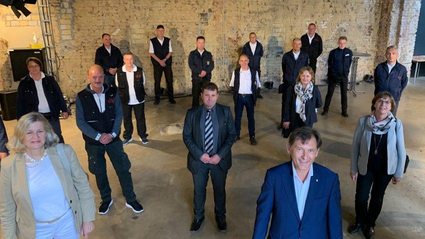 Personelle Verstärkung für den Bahnhof und den KOD mit den neuen Kräften und Vertretern der Förderer.