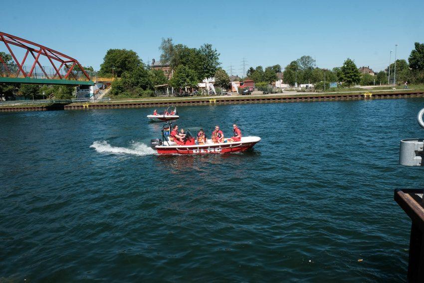 DLRG-Wacheröffnung auf dem Rhein-Herne-Kanal.