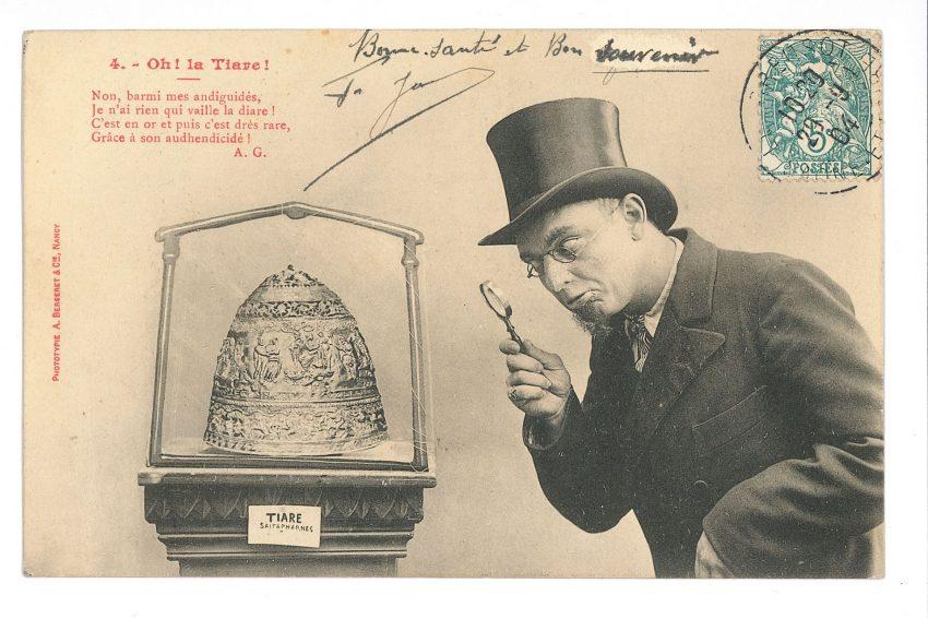 Ein Highlight der Ausstellung ist die Tiara des Saitaphernes, eine Fälschung, vor der selbst der Pariser Louvre nicht gefeit war.