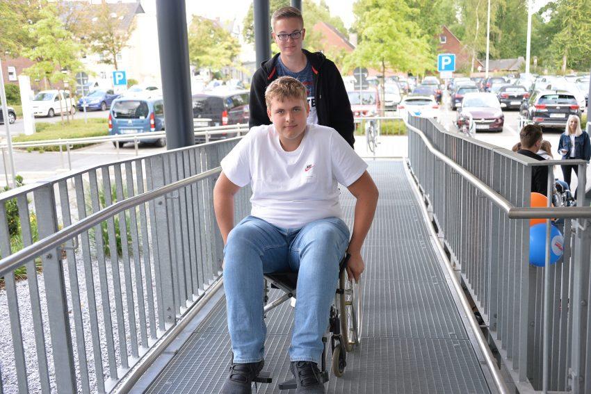 Azubi-Inklusions-Tag 2019: Dominik der Rollstuhlfahrer für einen Vormittag.