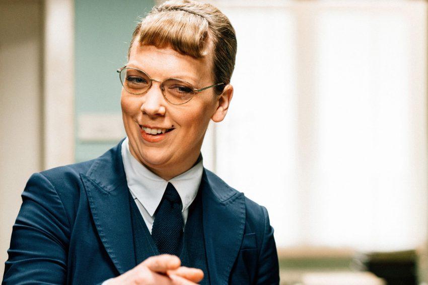 Lina Beckmann als Tamara Rosenberg.