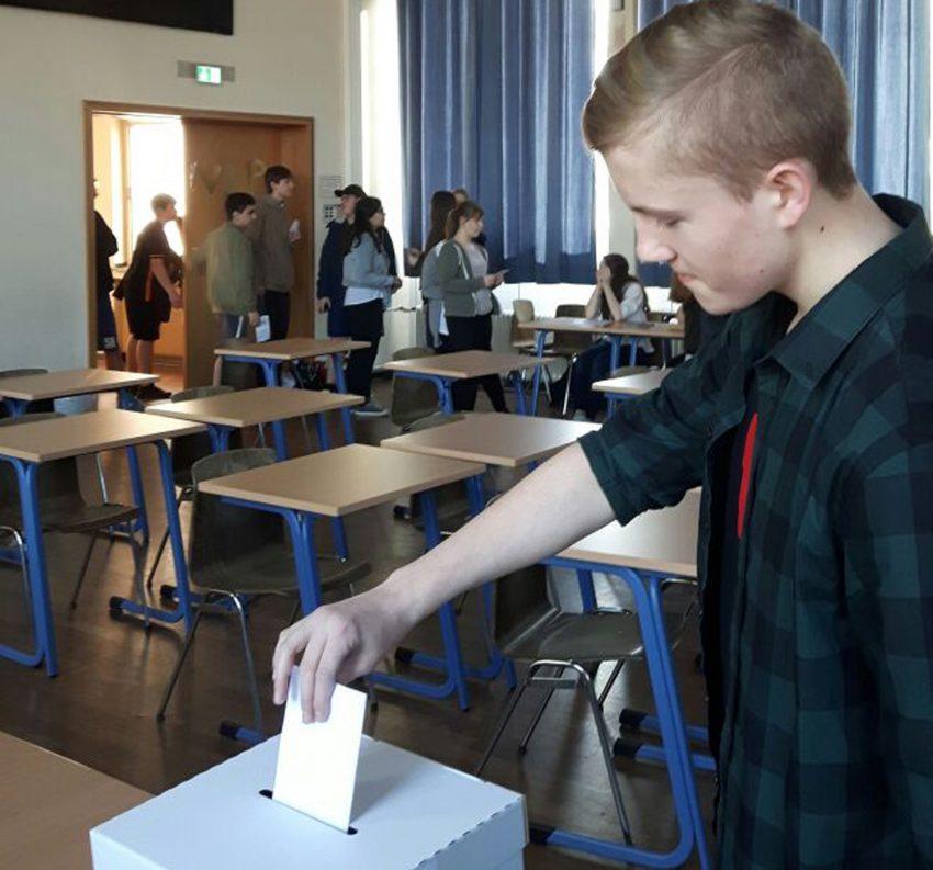 Juniorwahl am Gymnasium Wanne.