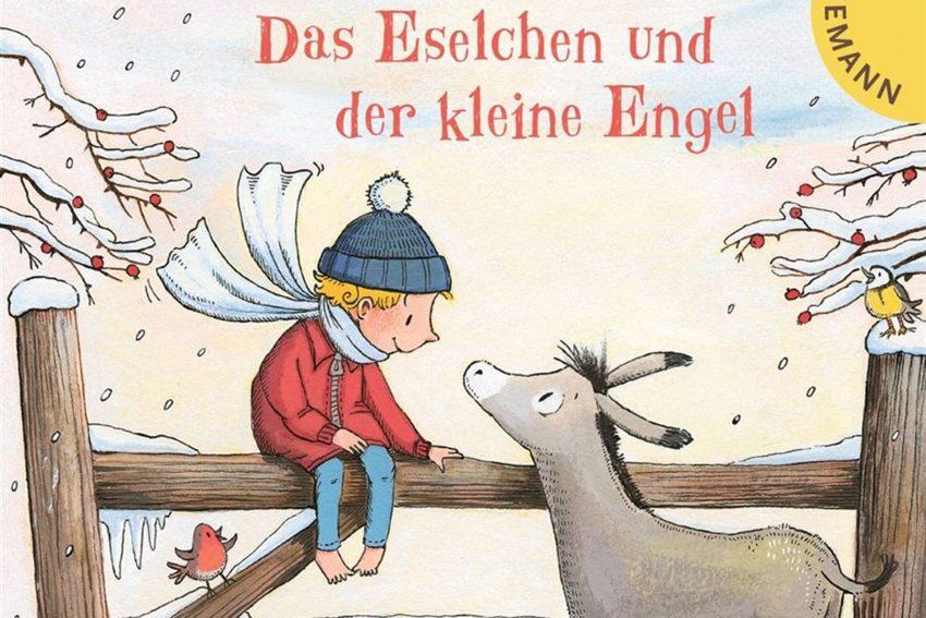 Ottfried Preußler Buchcover: Das Eselchen und der kleine Engel. Illustration: Christiane Hansen.