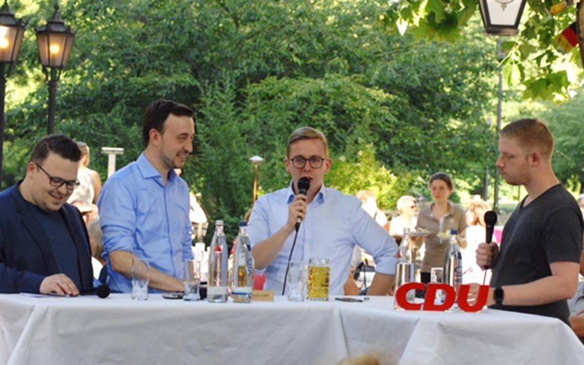 v.l. Andreas Kowalski, Paul Ziemiak, Philipp Amthor, Kai Wahler.