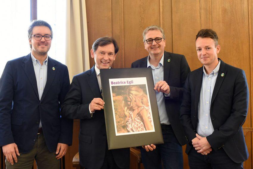 (v.l.) Dr. Alexander Christian, Dr. Frank Dudda, Werner Friedhoff, Tibo Zywietz