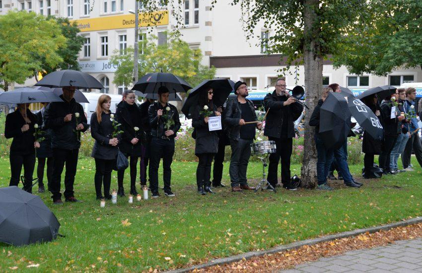 Gegen-Veranstaltungen am 1.10.2019 gegen die Spaziergänge der sogenannten Besorgten Bürger in der Herner Innenstadt. Foto: Carola Quickels