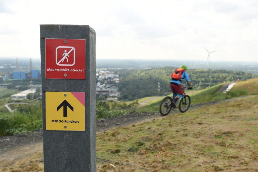 Vorstellung der neuen MTB-Strecken auf den Halden Hoppenbruch und Hoheward.