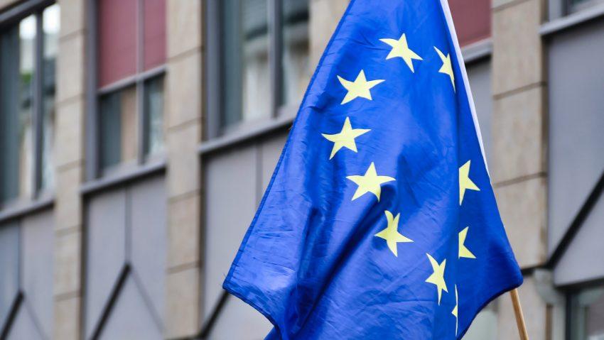 Die europäische Flagge.