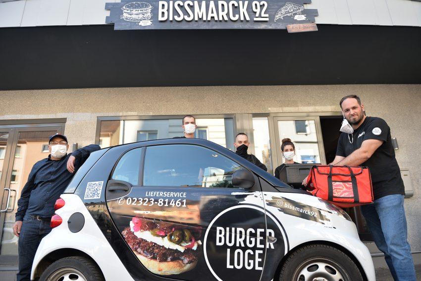 Die angesagte Burger-Adresse in Herne - das Bismarck 92 - setzt auf Lieferung.