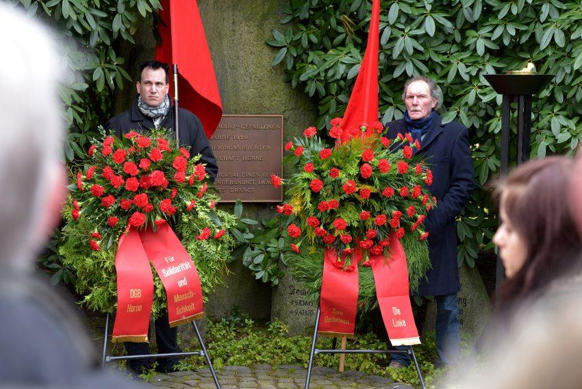 Gedenken an die Opfer der Märzrevolution 1920.
