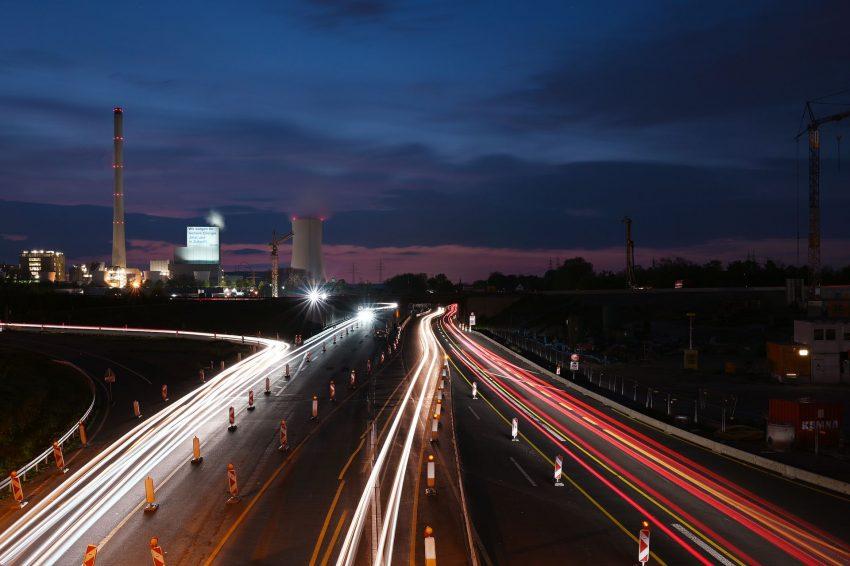 Das STEAG-Kraftwerk und die Autobahn A43