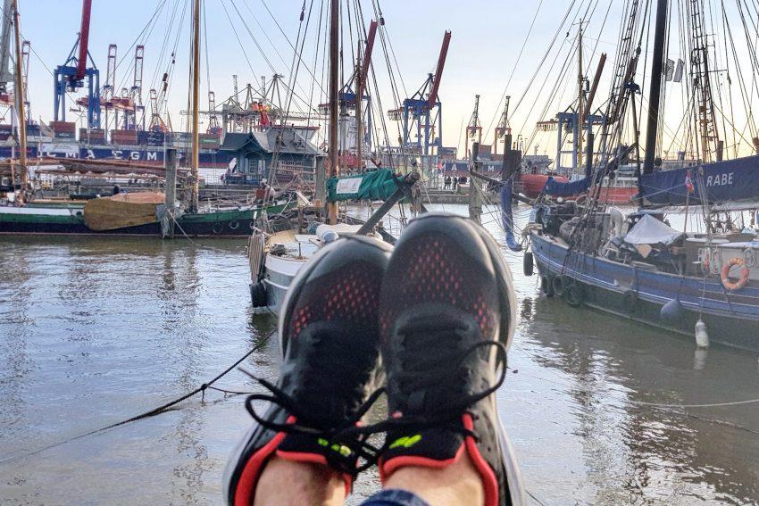 Entspannung am Hamburger Hafen.