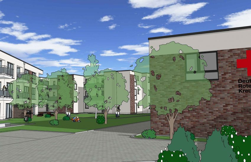 So soll das neue Wohnprojekt des DRK aussehen.